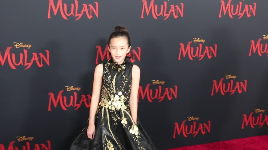Delphine Huang at the World premiere of Disney's 'Mulan' held at the Dolby Theatre in Hollywood, USA on March 9, 2020.