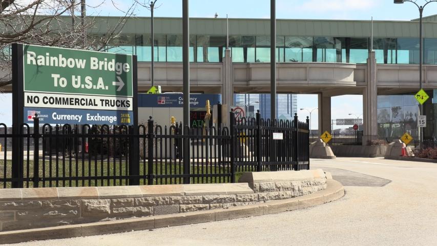 Niagara Falls, Ontario, Canada March 2020 COVID 19 pandemic leaves the Niagara falls tourist area an empty ghost town