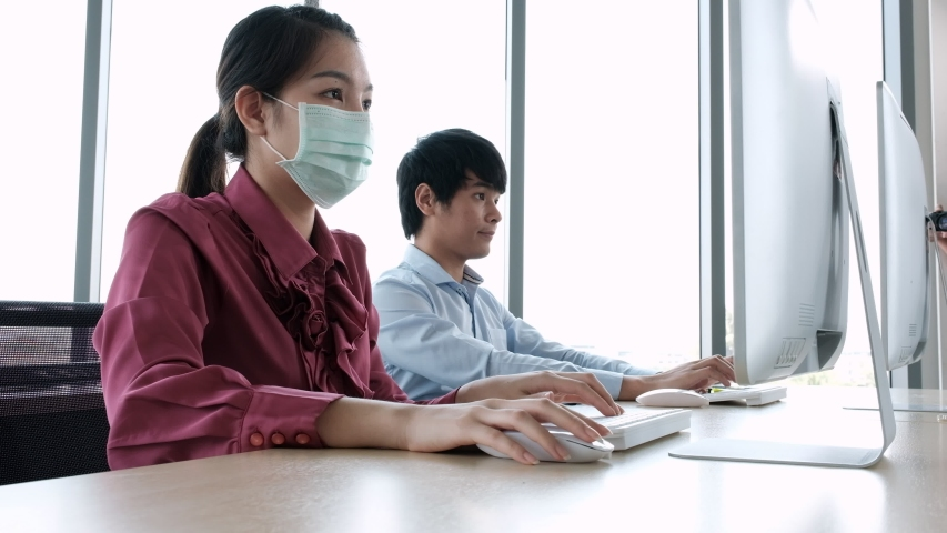 Employee Asian Man Cough Without Stock Footage Video (100% Royalty-free)  1049027827   Shutterstock