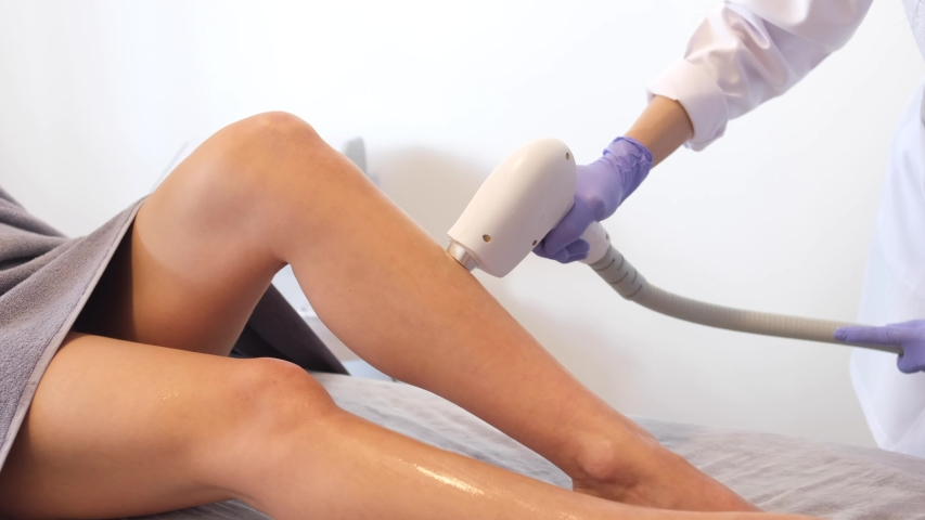 Laser epilation - hair removal procedure | Shutterstock HD Video #1049055046