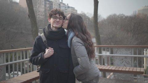 Shy girl kissing a 😝 San Jose