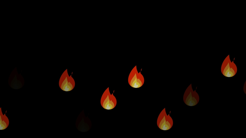 Fire reaction on white and black background | Shutterstock HD Video #1049319661