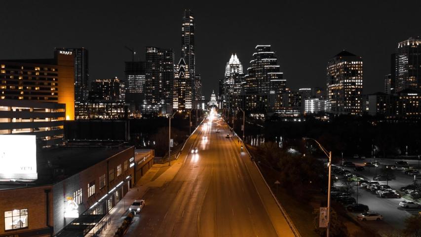 4K Austin Tx Skyline Time Lapse Hyper Lapse Drone City Night Rising