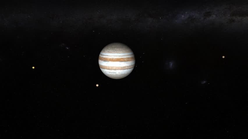 East Urban Home Planet Jupiter Moon Space Framed