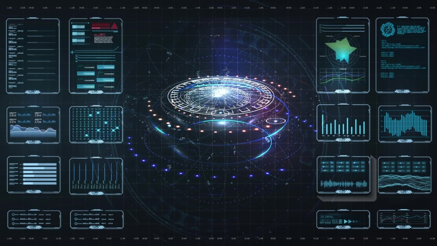 Virtual reality.Futuristic VR head-up display design. HUD,GUI futuristic element. Circle Abstract Digital Technology UI Futuristic HUD Virtual Interface Elements Sci- Fi Modern User For Graphic Motion Royalty-Free Stock Footage #1049459971