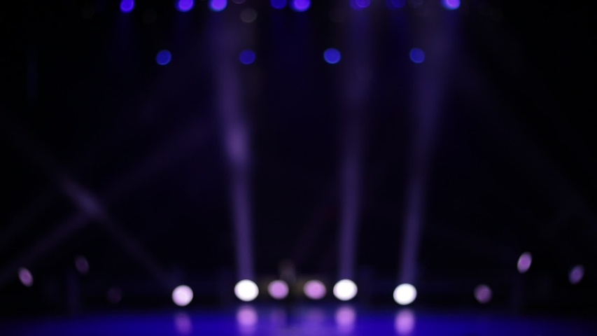 Video, blur texture and defocus for design, concert hall and stage light during a show program. | Shutterstock HD Video #1049472694