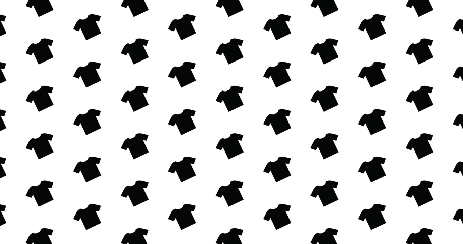 Moving T shirt icons background clip motion backdrop video in a seamless repeating loop.  Fashion & clothing themed t-shirt shirts pattern background motion video clip. | Shutterstock HD Video #1049571232