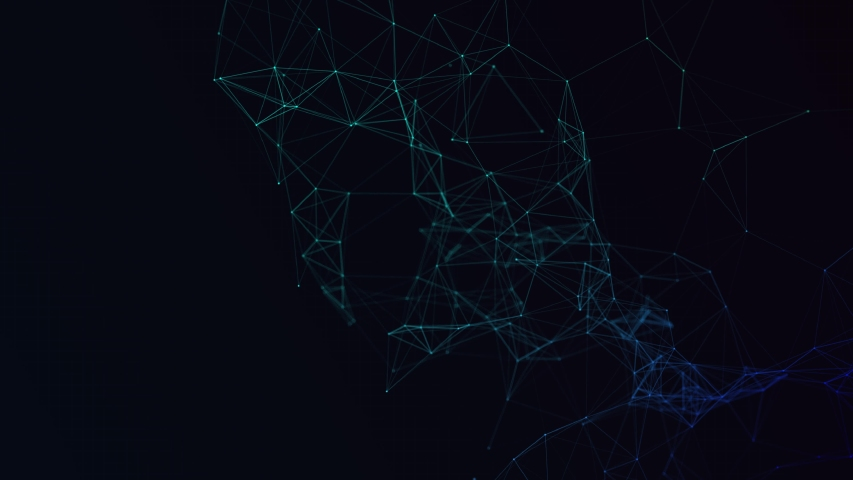 3D plexus rendering of connectivity illustrated by geometric blue lines. Artificial Intelligence AI and the Internet of Things show how we are all connected.  | Shutterstock HD Video #1049668291