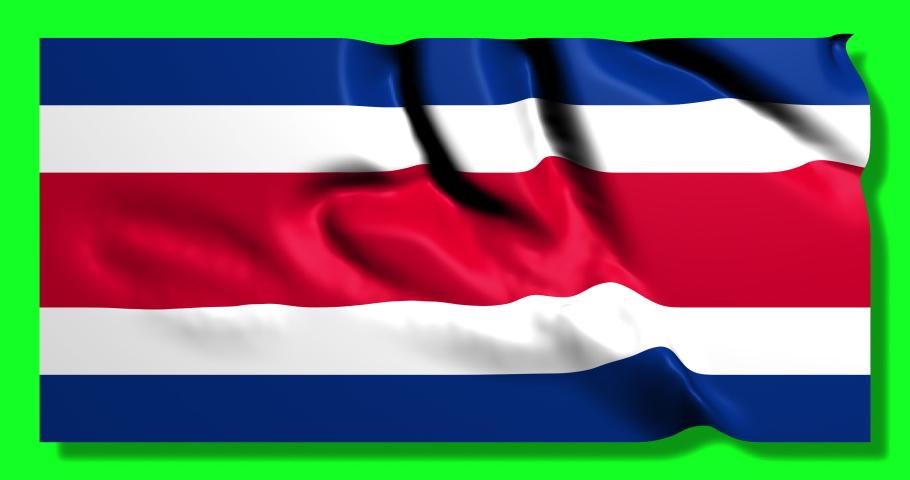 Flag waving Costa Rica waving ricans waving flag national Costa Rica national ricans national flag green screen Costa Rica green screen ricans green screen flag animation Costa Rica animation ricans  | Shutterstock HD Video #1049695540