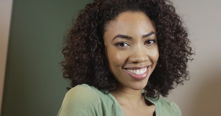Cute Black Woman Smiling and Stock Footage Video (100% Royalty-free) 10498112 | Shutterstock