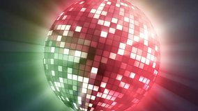 Neon Disco ball seamless VJ loop animation for music broadcast TV, night clubs, music videos, LED screens and projectors, glamour and fashion events, jazz, pops, funky and disco party 4k