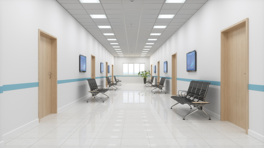 3d Rendering of Hospital Waiting Room