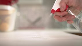Sanitizing and disinfecting surfaces against coronavirus, Covid-19 and bacteria. Personal hygiene and diseases protection. Footage in 4K and HD. Download the preview for free.