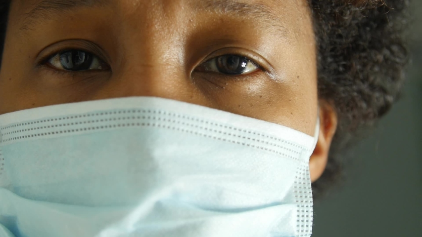 Healthcare worker looking at the camera