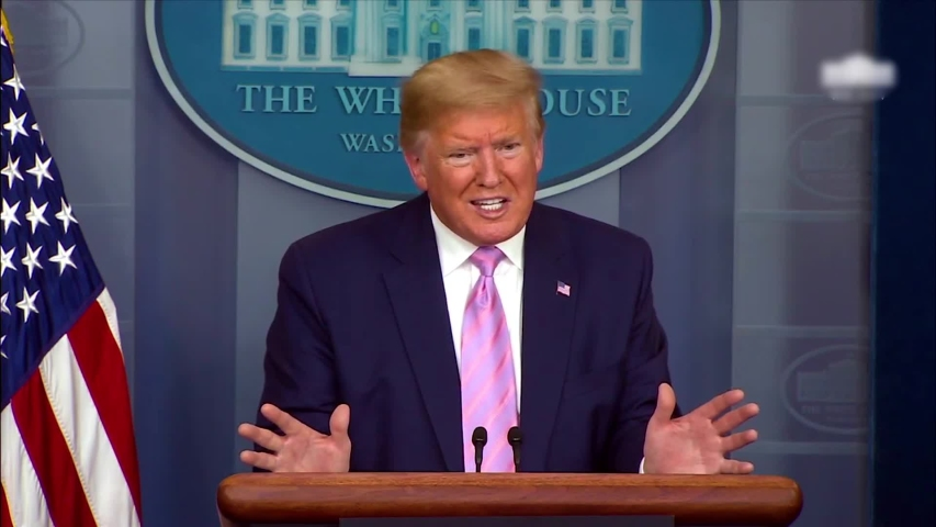 CIRCA April 4, 2020 - Covid-19 briefing includes President Donald Trump saying he thinks patients should just take chloroquine and Z pack.