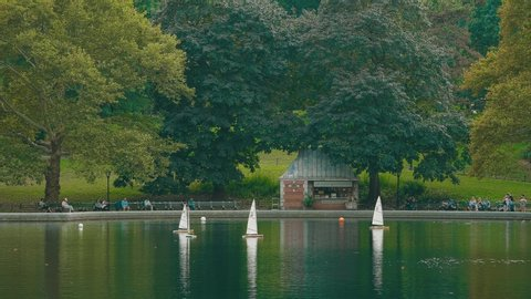 Model Boat Pond Stock Video Footage 4k And Hd Video Clips Shutterstock