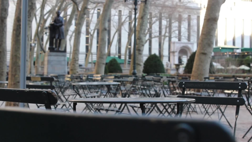 Empty Bryant Park During New York City Coronavirus Quarantine | Shutterstock HD Video #1049995321