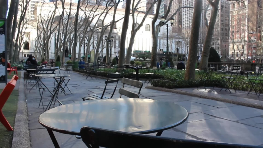 Empty Bryant Park During New York City Coronavirus Quarantine | Shutterstock HD Video #1049995477