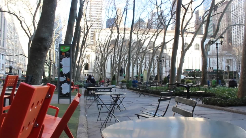 Empty Bryant Park During New York City Coronavirus Quarantine | Shutterstock HD Video #1049995480