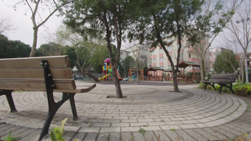 Roads and parks empty  due to covid19 in istanbul