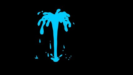 Cartoon Water Element Fx Pack. 4K Water Splash with alpha Channel.