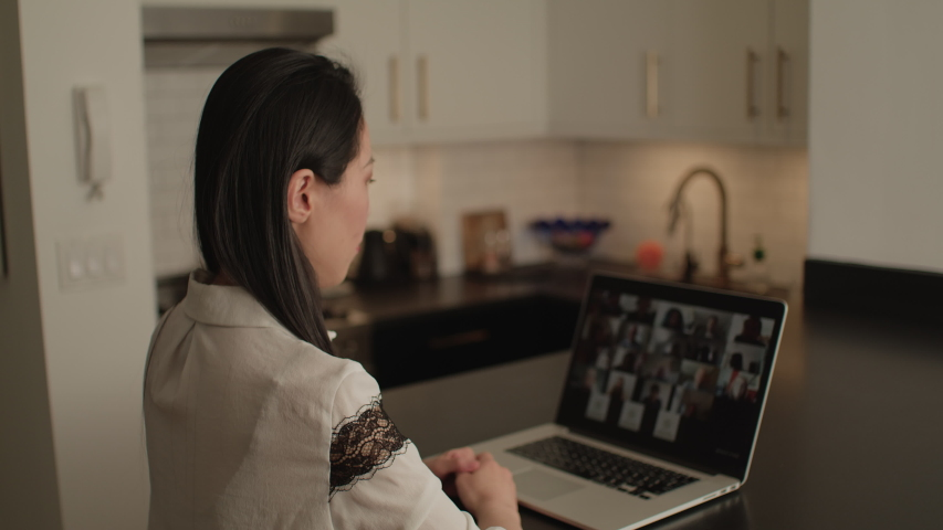 Zoom Meeting Woman at Home During Virus Outbreak | Shutterstock HD Video #1050330799