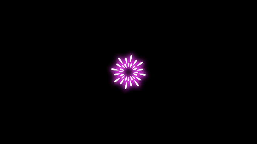 Motion Graphics Fireworks With RGB Color, Template Fireworks For Greeting New Years, 2d Animation Fireworks