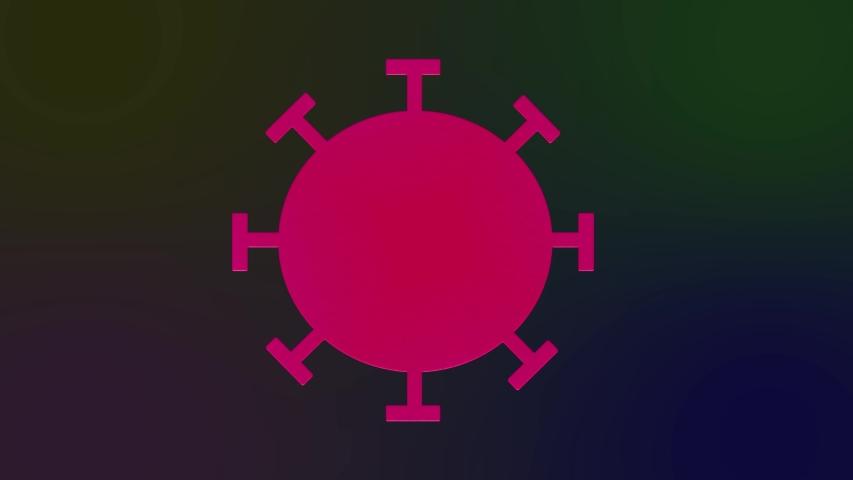 Novel Coronavirus covid-19 2019-nCoV cell illlustration Royalty-Free Stock Footage #1050432799