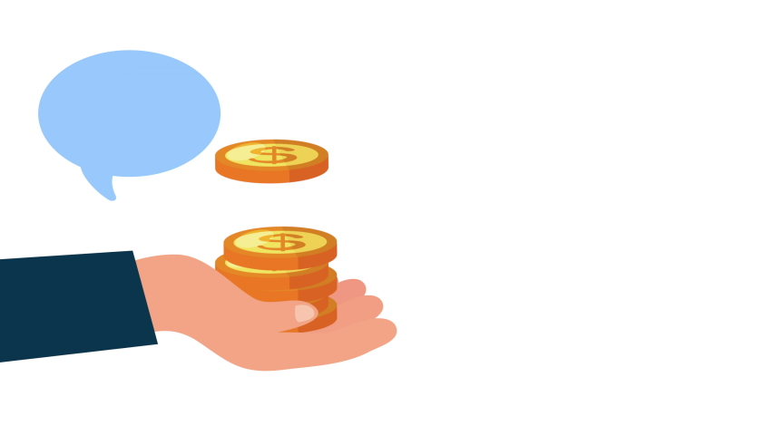 Donation campaign for covid19 with hand lifting coins ,4k video animated | Shutterstock HD Video #1050634678