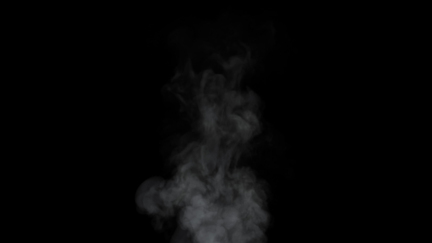 Soft Fog in Slow Motion on Dark Backdrop. Realistic Atmospheric Gray Smoke on Black Background. White Fume Slowly Floating Rises Up. Abstract Haze Cloud. Animation Mist Effect. Smoke Stream Effect 4K #1050666697