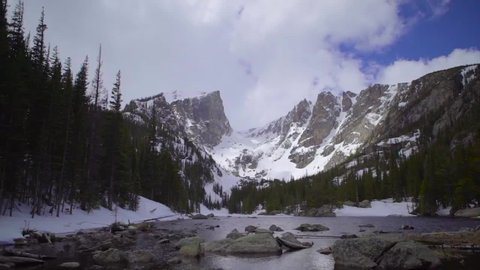 Time-lapse of Dream Lake in the Colorado Rocky Mountains