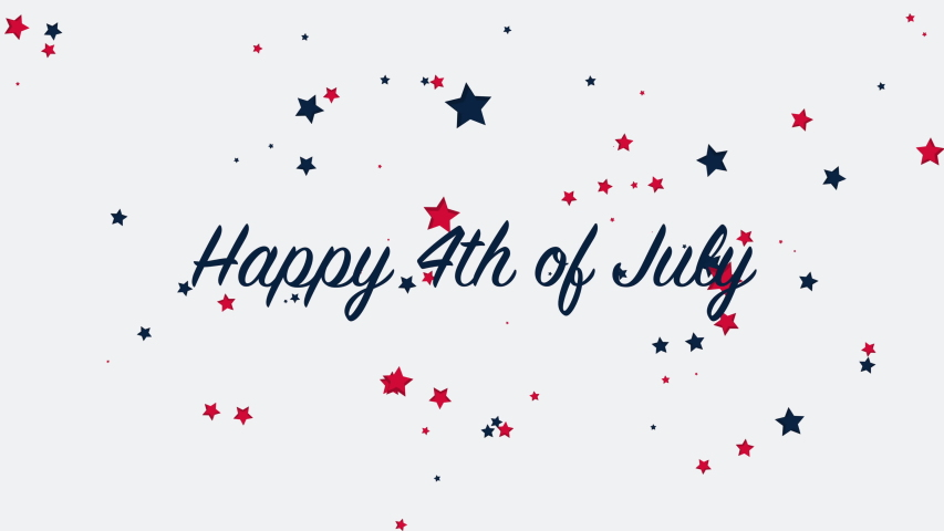 Animated closeup text July 4th on holiday background, Independence Day of USA. Luxury and elegant dynamic style template for holiday card   Shutterstock HD Video #1050755497