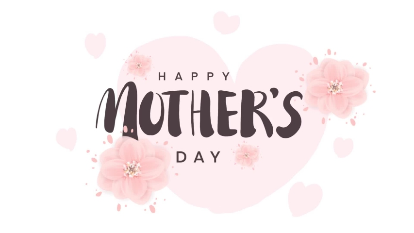 Happy Mother's Day calligraphy design of animation. | Shutterstock HD Video #1050788350