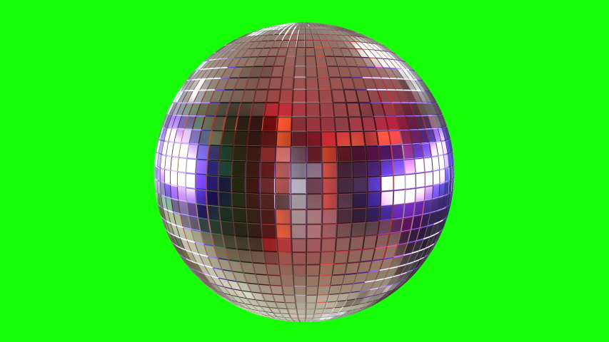 3D Animation of disco ball mirror on green screen for easy keying. Party dance hall celebration at a night club with lots of flashy colors. SEAMLESS LOOP. | Shutterstock HD Video #1050812338