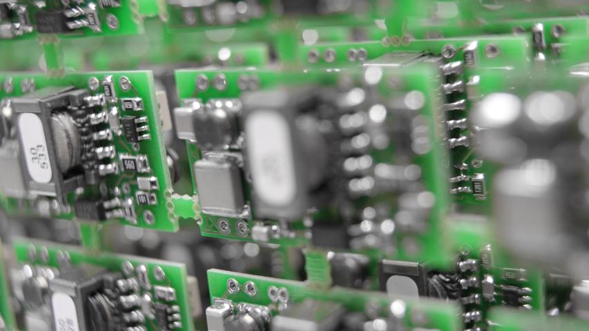 A close-up of a microchip | Shutterstock HD Video #1050845893