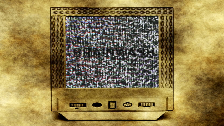 Brainwash text on vintage tv set