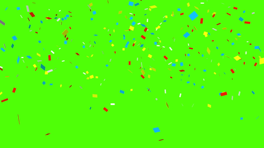 Colorful 3D animation of confetti falling on green screen so you can easily put it into your scene or video. Celebrate the holidays with it.  | Shutterstock HD Video #1050919264