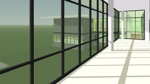 3D animation of shade and shadow simulation for building