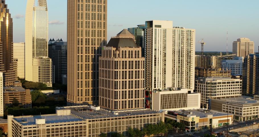Atlanta Georgia Downtown Aerial Drone Footage,  April 2020