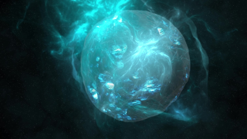 Abstract Planet and Nebulae in Space 4K Background   Shutterstock HD Video #1050990787