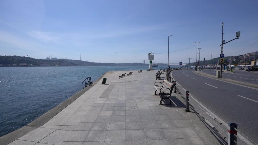 Istanbul Empty Coast Road, ISTANBUL BOSPHORUS Pandemic Curfew | Shutterstock HD Video #1051041883