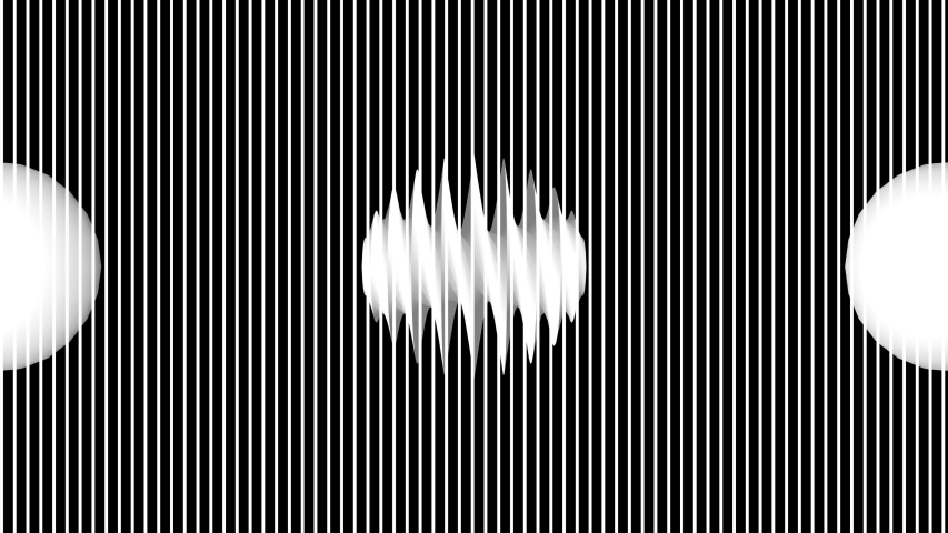 Psychedelic 3d rendering of straight and vertical lines blinking and changing directions with various figures inside and shaping a time portal. | Shutterstock HD Video #1051049734
