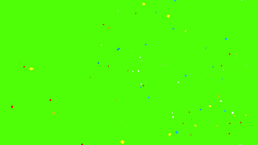 Colorful 3D animation of confetti falling on green screen so you can easily put it into your scene or video. Celebrate the holidays with it.  | Shutterstock HD Video #1051073689