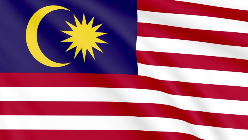 National Flag of Malaysia , Seamless, Infinity Loop Animation, 4K 30Fps 16:9 Aspect Ratio   Shutterstock HD Video #1051094791