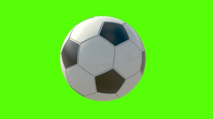 3D animation seamless loop of soccer ball rotating 360. On green screen for easy keying. Use for your advertising or social media posts.