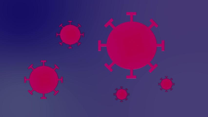 Group of Novel Coronavirus covid-19 2019-nCoV cells illlustration Royalty-Free Stock Footage #1051169962