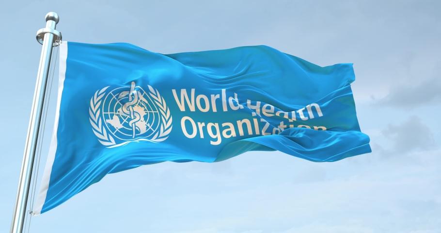 World Health Organization Flag Waving loop 4K