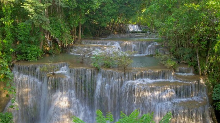 Huai Mae Khamin Waterfall, Srinakarin Dam National Park, Kanchanaburi, Thailand