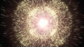 Big Bang. Supernova. The birth of the universe. Video footage of a burst of stars.