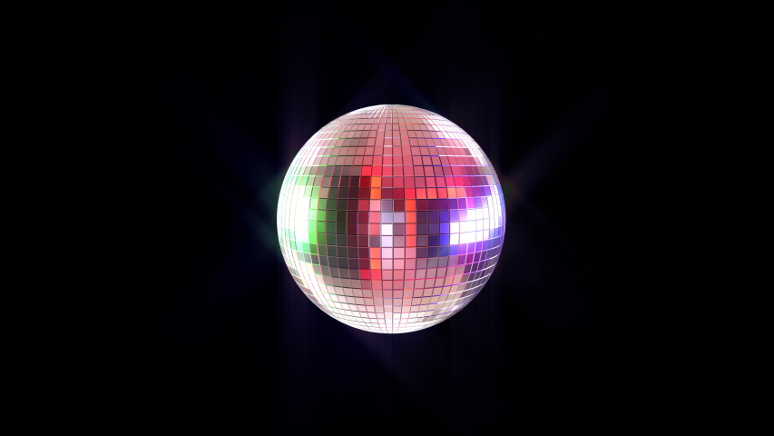 Disco ball 3D animation in a seamless loop with alpha. On black for easy compositing.  | Shutterstock HD Video #1051338583